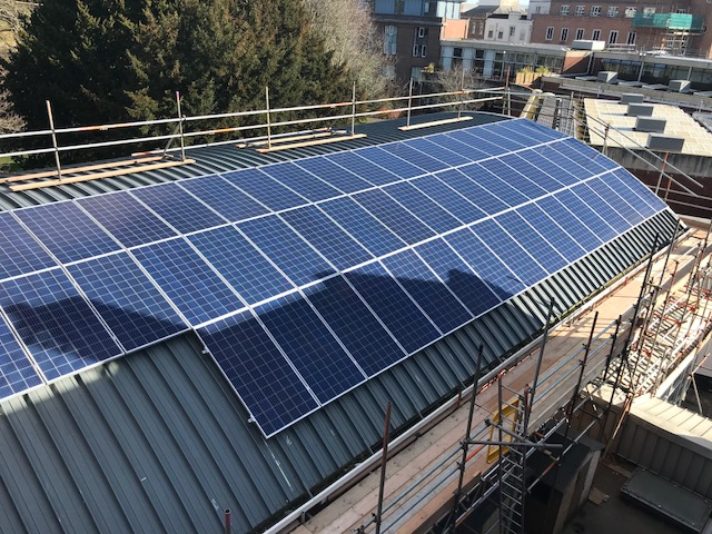 Exeter Phoenix: Solar Auditorium funded by The Naturesave Trust
